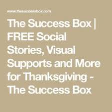 today is thanksgiving social story autism supports
