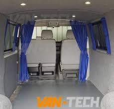 vw t5 van transporter interior cab divider curtain van tech