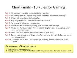 Family House Rules House Rules For Kids Crushvocates Setting Rules For Gaming In