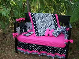 Pink Zebra Crib Bedding New Black White Polka Dot Zebra And Pink Fabrics Crib Bedding