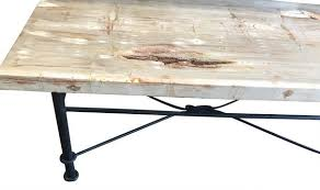 Coffee Table With Metal Base by Petrified Wood Coffee Table With Iron Base Haskell Antiques