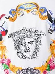 versace medusa sketch embroidered t shirt farfetch