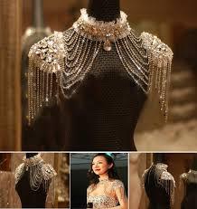 vintage lace necklace images 2018 vintage lace bridal shoulder necklace chain rhinestone jpg