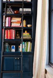 Rolling Bookcase Ladder by A Perfectly Patterned Brooklyn Heights Home For The Ages Home