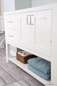 Bathroom Vanity Woodworking Plans Remodel Update How To Install A Bathroom Vanity A Houseful Of