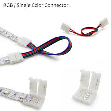 1 pcs 2pin 4pin 8mm 10mm rgb single color solderless wire angle
