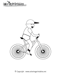 bike riding coloring page a free sports coloring printable
