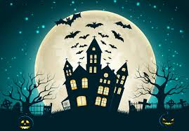 halloween scary picture holiday halloween scary house horror creepy full moon castle trees