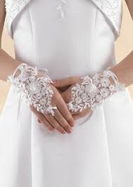communion gloves white beaded lace fingerless communion gloves linzi lg56