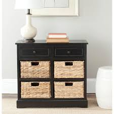 safavieh herman distressed black chest amh5702b the home depot