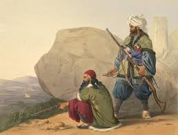 unknown artist afghaun foot soldiers in their winter dress with
