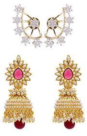 fancy jhumka earrings shining traditional jewellery stylish fancy party wear combo