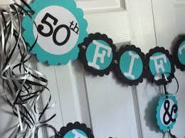 50th birthday party supplies 50th birthday decorations party banner 50 fabulous