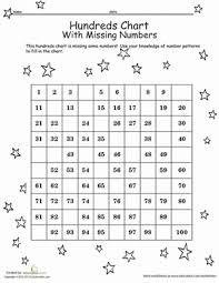 math hundreds chart hundreds chart with missing numbers worksheet education