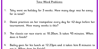 time word problems classroom secrets