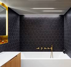 Black Modern Bathroom Black And Brass Bathroom Design With Wooden Touches Digsdigs