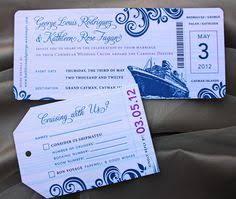 cruise wedding invitations blue swirl with fuchsia accents cruise boarding pass wedding