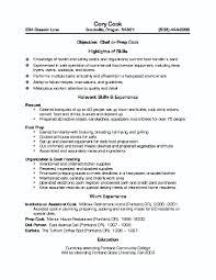 Job Skill Examples For Resumes Resume For Cook Job Resume For Your Job Application