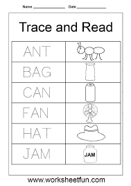 worksheets on three letter words for kindergarten 3 letter words