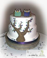owl themed 25th wedding anniversary cake bakealous