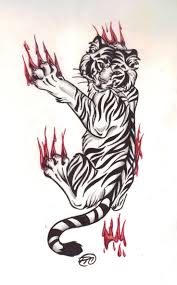 tiger scratch on ribs pictures to pin on tattooskid