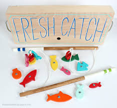 Free Plans Woodworking Toys by Make This Wood Toy Fishing Game From Scrap Wood Ana White Build