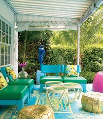 Crazy Colorful With A Palm Springs Flair For A Swingin Vintage - Colorful patio furniture