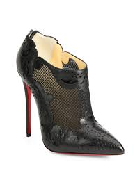 christian louboutin mandolina mesh leather ankle boots in black lyst