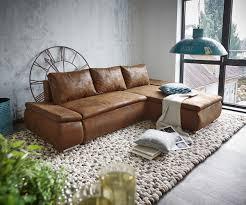 Wohnzimmerschrank Mit Bettfunktion Couch Abilene Braun 260x175 Mit Bettfunktion Ottomane Variabel
