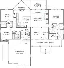 cumberland cottage ranch house plan rustic floor plans