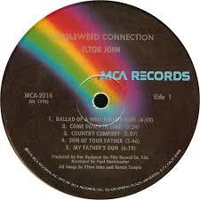 Country Comfort Elton John Vinyl Album Elton John Tumbleweed Connection Mca Usa