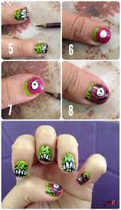how to do zombie nail art best nail 2017 zombie nail art break