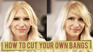 different ways to cut the ends of your hair 2 ways to cut your own bangs youtube