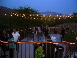 How To String Patio Lights How To Hang String Lights Outside From Aadeeacfbeec Diy Patio