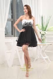 black and white short prom dresses white and black sweet 16