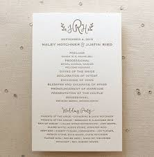 wedding bulletins 10 simple wedding programs mywedding