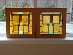 Handmade Custom Cabinet Door Stained Glass Panels By Chapman - Glass panels for kitchen cabinets