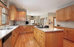 light wood kitchen cabinets with black countertops country kitchen oak cabinets black counters page 4 line