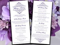 wedding program templates free printable wedding program template lavender ceremony program