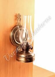 hurricane oil lamps antique brass mini xl wall lamp 7