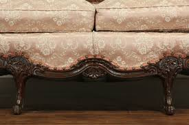 Tufted Vintage Sofa by Sold French Style Carved Frame 1940 U0027s Vintage Sofa Tufted