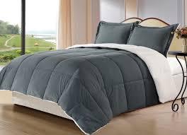 Home Classics Reversible Down Alternative Comforter Cozy Beddings 3 Piece Reversible Borrego Comforter Set