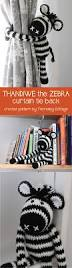 crochet zebra tie back ideal for a nursery or child u0027s