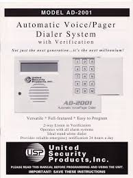 united security ad2001 user manual