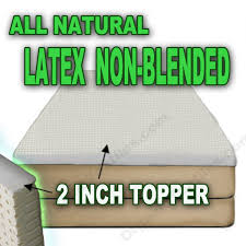 King Size Bed Topper Amazon Com All Natural Latex Non Blended Mattress Topper With