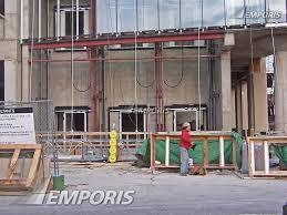 base of the parking garage elevators along benson sherman