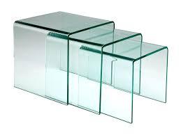 bout de canapé en verre table bout de canape en verre bout de canape triptyque table basse