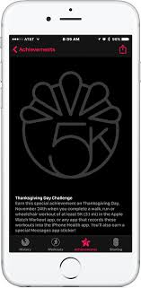 apple offers a special thanksgiving activity achievement