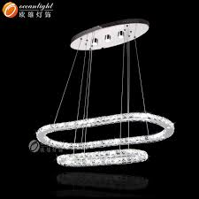 Oval Crystal Chandelier Two Ovals Layer Crystal Chandelier Led Crystal Chandelier