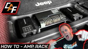 Audio Rack Plans Extremely Clean Amp Rack Install How To Caraudiofabrication
